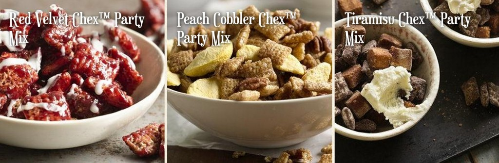 chex mix collage
