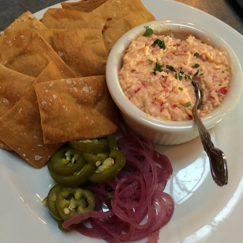 Cabot cheddar pimento cheese with saltines -- $10