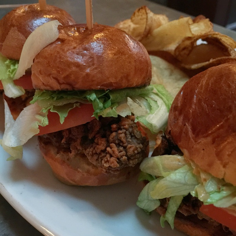Mini Oyster Po'Boy Sliders with Homemade Chips -- $15