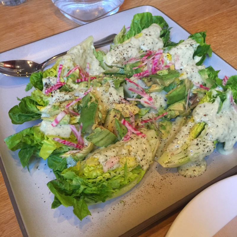 Little Gem Lettuces w/ avocado & green goddess dressing $11/22