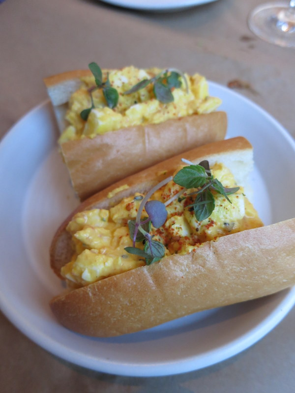 Egg salad sandwich on acme roll special ($10)